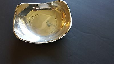 Mid Century Modern Sterling Silver Juventino Lopez Reyes Oval Bowl