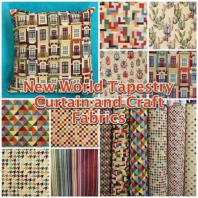 New-World Colourful Tapestry Heavy Geometric Curtain Handbag Upholstery Fabric