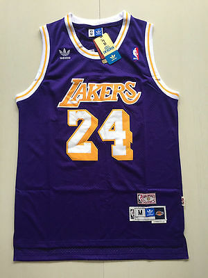 New Los Angeles Lakers NO.24 Kobe Bryant Purple Basketball Jersey Size:S M L