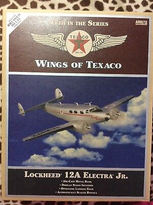 Wings Of Texaco Lockheed 12A Electra Jr. Airplane Bank