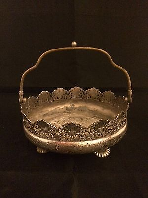 Vintage Derby Silver Co. Victorian basket.