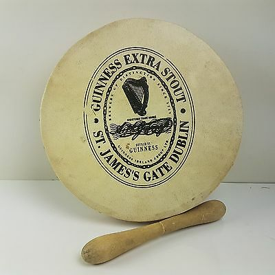 "Guinness Bodhran Made By Malachy Kearns 8"" With Beater (T2)"