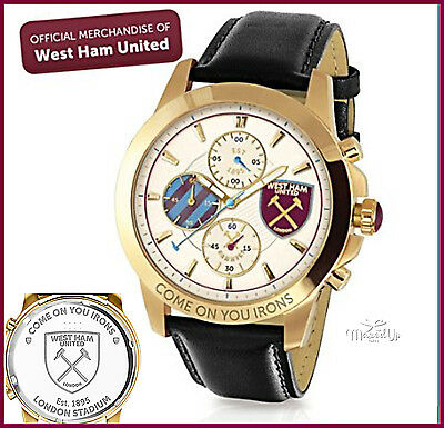 West Ham United Football Club CHRONOGRAPH MENS WATCH  Officially licensed.