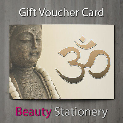 Gift Voucher Beauty Salon Blank Card Holistic Reiki Hairdressing A7 + Envelopes