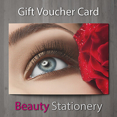 Gift Voucher Beauty Salon Blank Card Eyelash Extension Lash Lift A7 + Envelopes