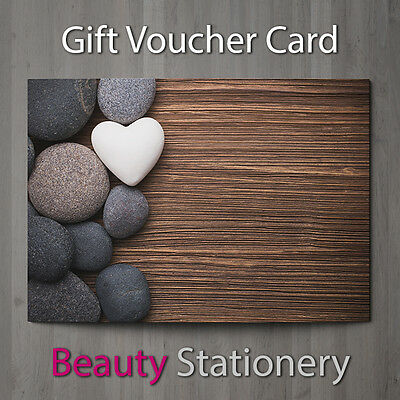 Gift Voucher Beauty Salon Blank Card Coupon Nail Massage Present A7 + Env.