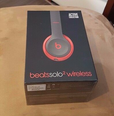 Beats by Dr. Dre Solo 2 Wireless Bluetooth Headphones - Red - New & Sealed