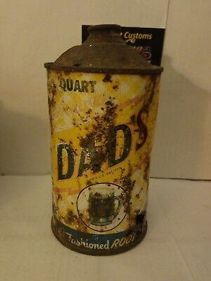 Vintage Dad's Root Beer Cone Top Soda Can Quart Soda Cans