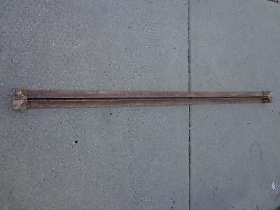 Rare Vintage Cast Iron Tapered Female Cone Pin Steel Bed Frame Side Rails
