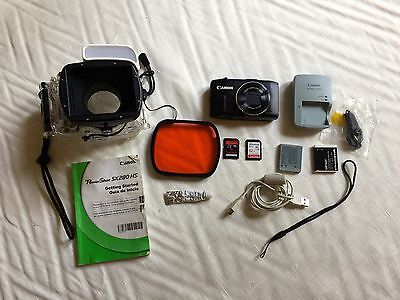 Canon WP-DC49 Waterproof Housing & Red Lens & Canon Power Shot SX280  HS