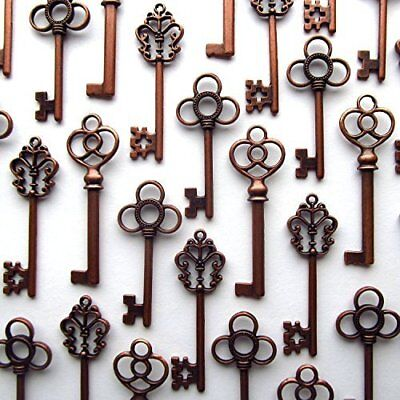 Lot of 30 Skeleton Keys Wall Decor Large Set Antique Vintage Home Jewelry Copper