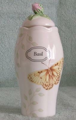 Basil  Spice Jar Butterfly Meadow With Lid