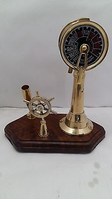 Brass Decorative Ship Telegraph Pen Holder Desk Telegraph Control Stand Boating