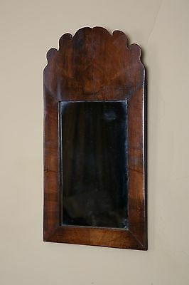 """Vintage mahogany small fret wall mirror, 10"""" width. UK DELIVERY INCLUDED."""