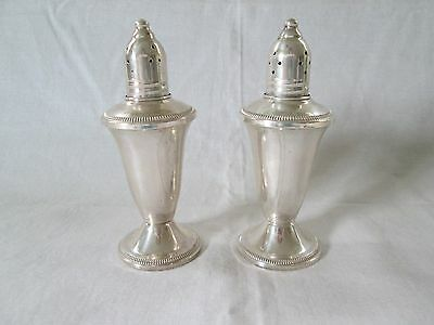 Vintage Raimond Sterling Weighted Glass Lined Salt & Pepper
