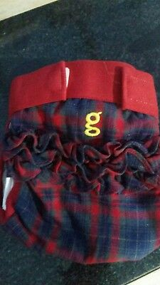 gnappy gnappies size medium 13-26lbs new, red blue tartan