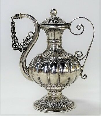ANTIQUE PERSIAN OR MIDDLE EASTERN STERLING TEAPOT Lot 292