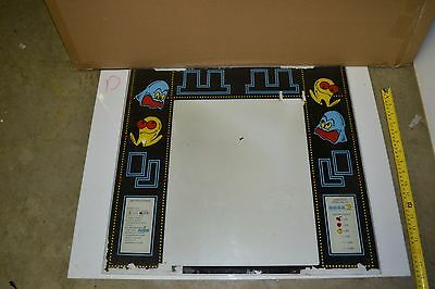 Midway Pacman Backglass Monitor Bezel Used