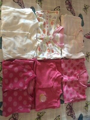 Bundle Of Girls Babygrows - 3-6months