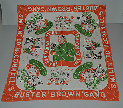 Vintage Buster Brown Cloth Scarf