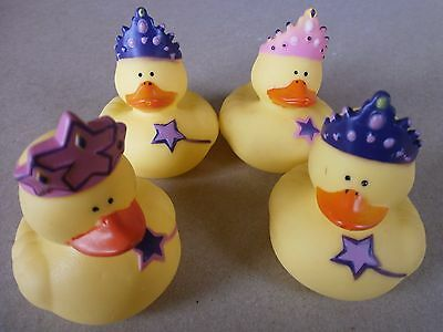 Princess Rubber Ducks X 6 **party Bags**bath Toys**