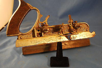 Vintage Stanley Rule No. 45 Combination Plow Plane (114357b)