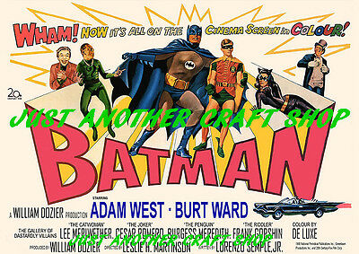 Batman Vintage 1966 Movie Poster Leaflet Advert Sign - A4 size very high quality