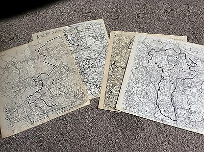 FOUR MAPS FROM THE 1930's SHOWING SITES OF COLLIERIES IN ENGLAND