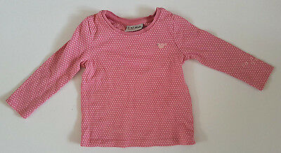 Next  Baby Girl Long Sleeve Top Pink Age 6-9 Months Eur 74Cm Cotton