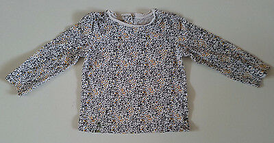 Next  Baby Girl Long Sleeve Top Floral Age 18-24 Months Eur 92Cm Cotton