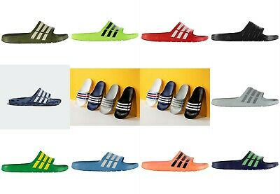 NEW Adidas Mens Duramo Sliders Flip Flops  SIZES FROM 3-18 -- MULTI COLORS SALE