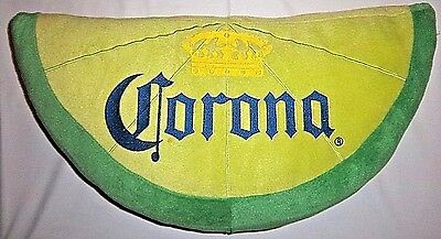 "CORONA BEER Pillow Extra Lime 24"" Wedge Novelty Plush Man Cave HTF Fun Display"