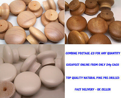 Choose Colour. Large Wooden Door Knobs. Kitchen Cupboard Cabinet Drawer Handles
