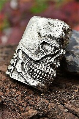 Japanese Zippo Lighter - Japan - Skull Jacket - Antique Silver - Limited Edition