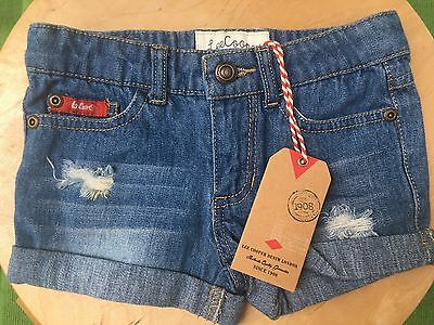 Lee Cooper girls boys childs denim jean shorts Size 1 BNWT