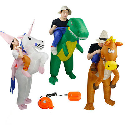 Inflatable Unicorn Horse Dinosaur Adult Fancy Dress Hen Stag Blow Up Costume Gig