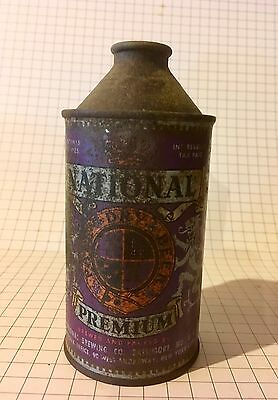 national premium cone top beer can
