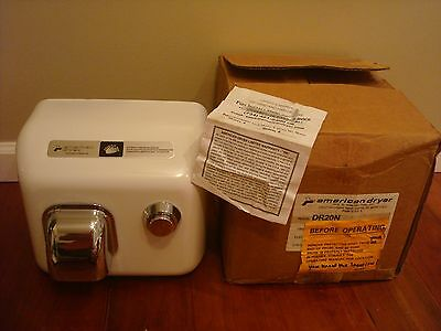 American Dryer Commercial Restroom Electric Hand Drying DR20N 120V