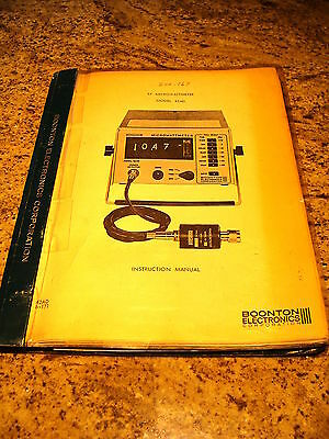 Boonton 42AD RF Microwattmeter Instruction and Maintenance Manual w/Schematics