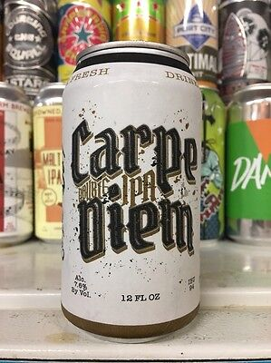 Independent Brewing. NEW Carpe Diem DIPA. Craft/Micro Beer Can. MD.