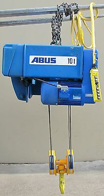 EMH ABUS 10 Ton Wire Rope Electric Hoist Trolley Bridge Crane 20,000 lbs Lift