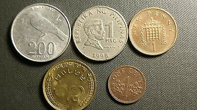 Lot 302. Five World Coins