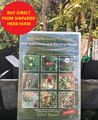 Self Sufficiency and Survival Foods! - 2 Disc DVD - Isabell Shipard