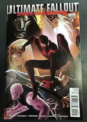 ULTIMATE FALLOUT 4 1:25 DJURDEVIC VARIANT NM - 1st Miles Morales Spiderman