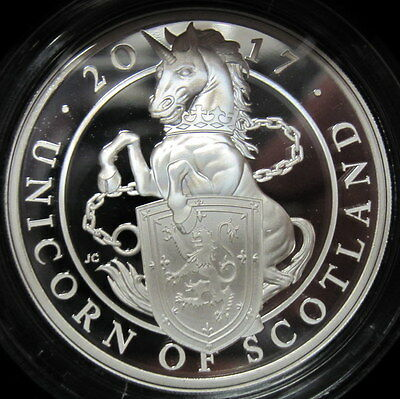 2017 Unicorn of Scotland 1 Oz Proof Silver Queens Beasts Mintage 6000 W/ Box/COA