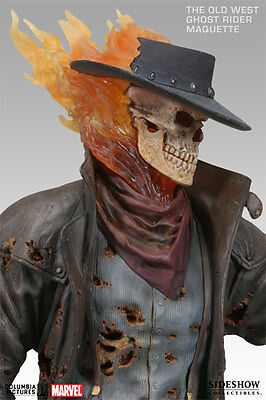 Sideshow Marvel The Old West Ghost Rider Maquette Statue Figure Bust Exclusive