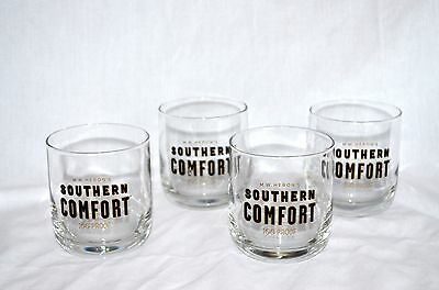 Southern Comfort Whiskey Tumblers Glasses Set Of 4