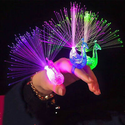 Finger Light Peacock Electronic Party Bar Supplies Kids Toys Night Discolor