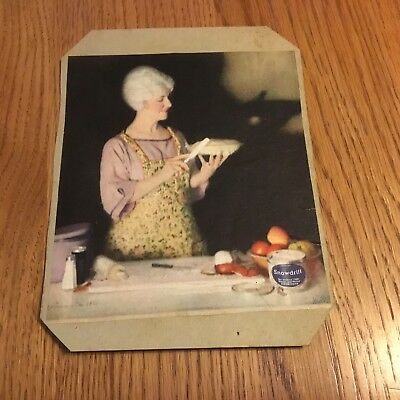 Vintage Snowdrift  Ad Baking Cakes, Pies and Biscuits