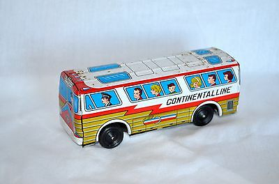 Vintage Antique Japanese Tin Toy Continental Line Bus Touring Car Express